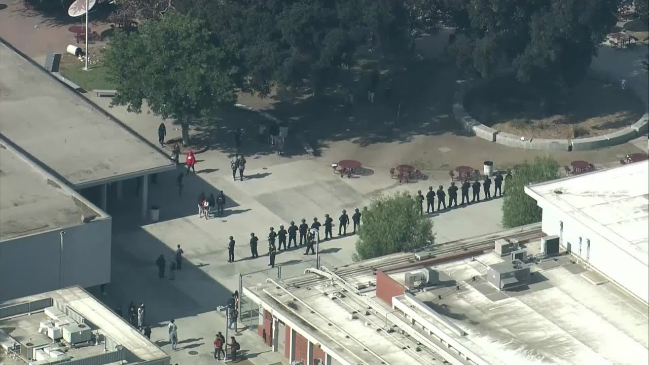 RAW: SKY2 Footage Of Police Responding To Reported Fights At Fremont High School