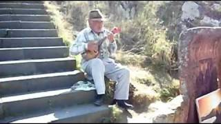 Old Man Playing Mandolin (Banjo) in Armenia