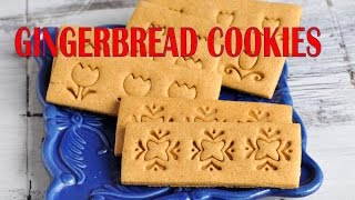 Gingerbread Cookie Recipe,  Pretty Stamped Cookies, Haniela's