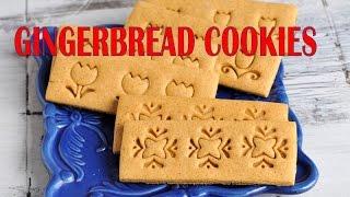 Gingerbread Cookie Recipe,  Pretty Stamped Cookies, Haniela's