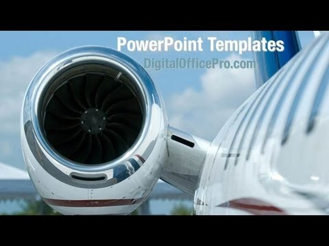 Aeroplane Fan PowerPoint Template Backgrounds - DigitalOfficePro #05115W