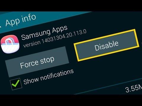 Disable Bloat Apps on S5