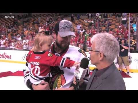 Patrick Sharp one-on-one after Blackhawks Stanley Cup win