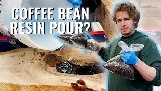 Pouring a Resin Taḃle with Coffee Beans for Graham Stephan