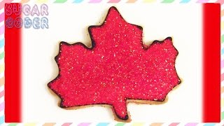 Canada Cookies, Canada Day Cookies, Maple Leaf Cookies - By Sugarcoder