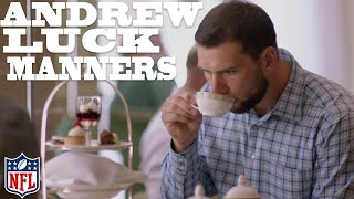 Andrew Luck Learns Proper Manners in London 🍵 | NFL Rush