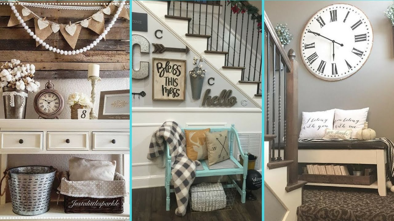 DIY Shabby Chic Style Small Entrance Decor Ideas