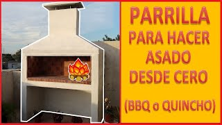Parrilla para hacer asado desde cero con campana /Grill to make roasted from scratch - Time Lapses -
