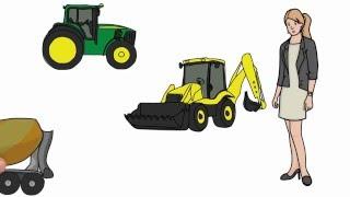 Рисуем машины трактора. Мультфильм как рисовать машину.