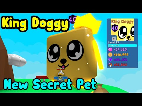 Roblox Bubble Gum Simulator Doggy I Got King Doggy New Secret Pet Biggest Pet In The Game Roblox Bubble Gum Simulator Youtube