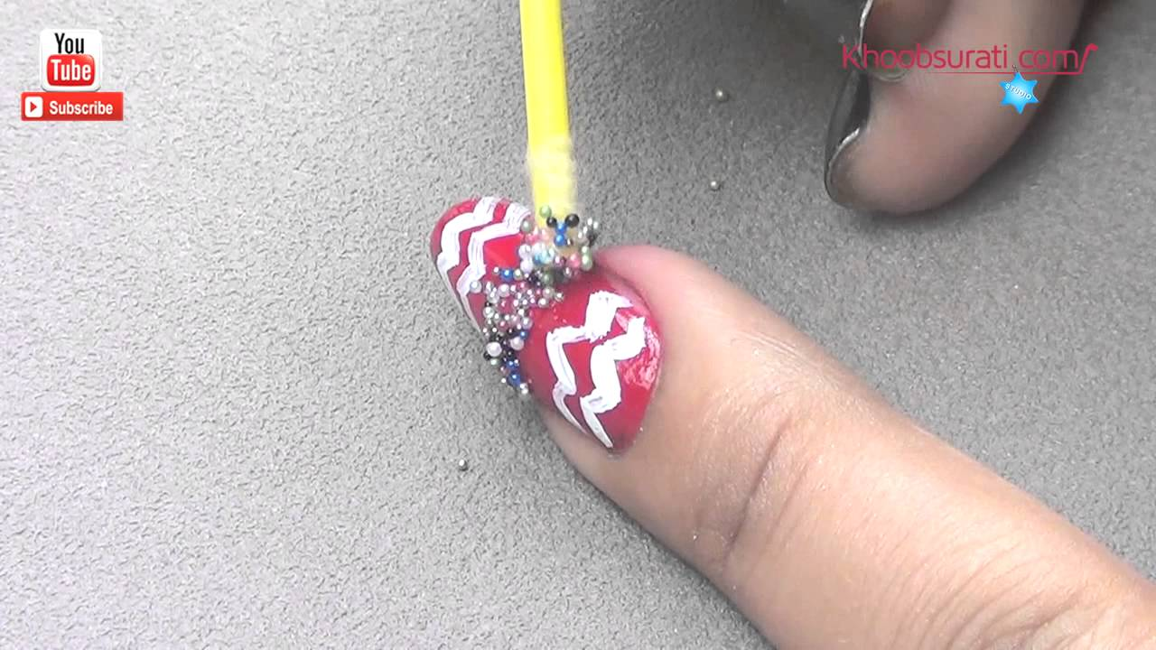 Romantic Nail Art Using Candy Balls By Khoobsurati Youtube