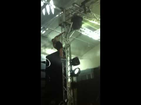Guy jumps on stage at Perth Future Music festival 2013