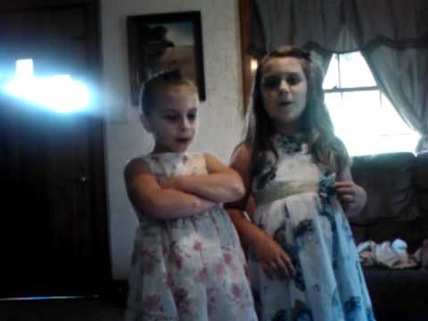 Carli and her sister Jenna age 6 singing Baby by Justin Biever together..mp4