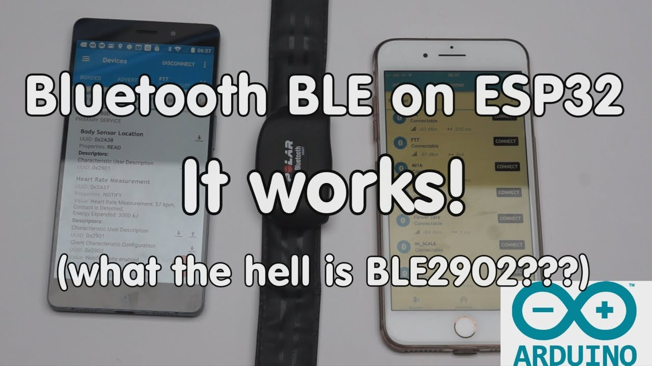 #174 Bluetooth BLE on ESP32 works! Tutorial for Arduino IDE