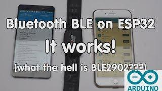 #174 بلوتوث بليه على ESP32 يعمل! البرنامج التعليمي ل Arduino IDE
