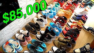 BUYING $100,000 WORTH OF SNEAKERS FROM A MILLIONAIRE!!!