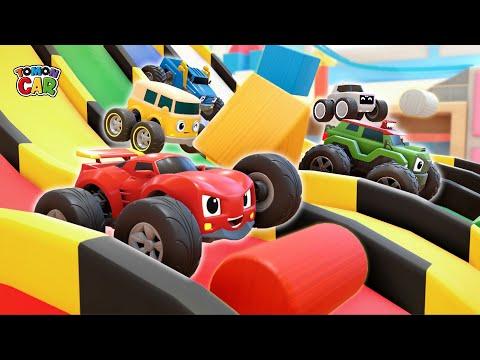 Play Building Blocks With Tomon | Magic Slide Pool Play Nursery Rhyme Kids Songs Tomoncar World 마술