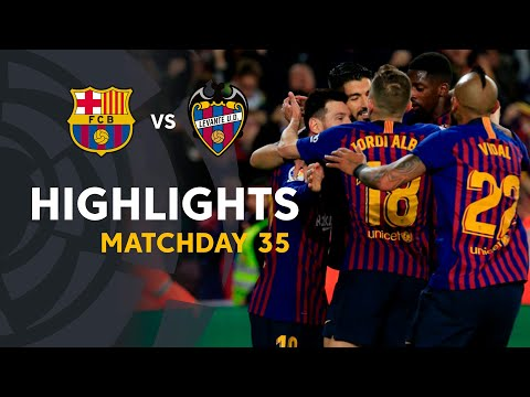 Highlights FC Barcelona vs Levante UD (1-0)