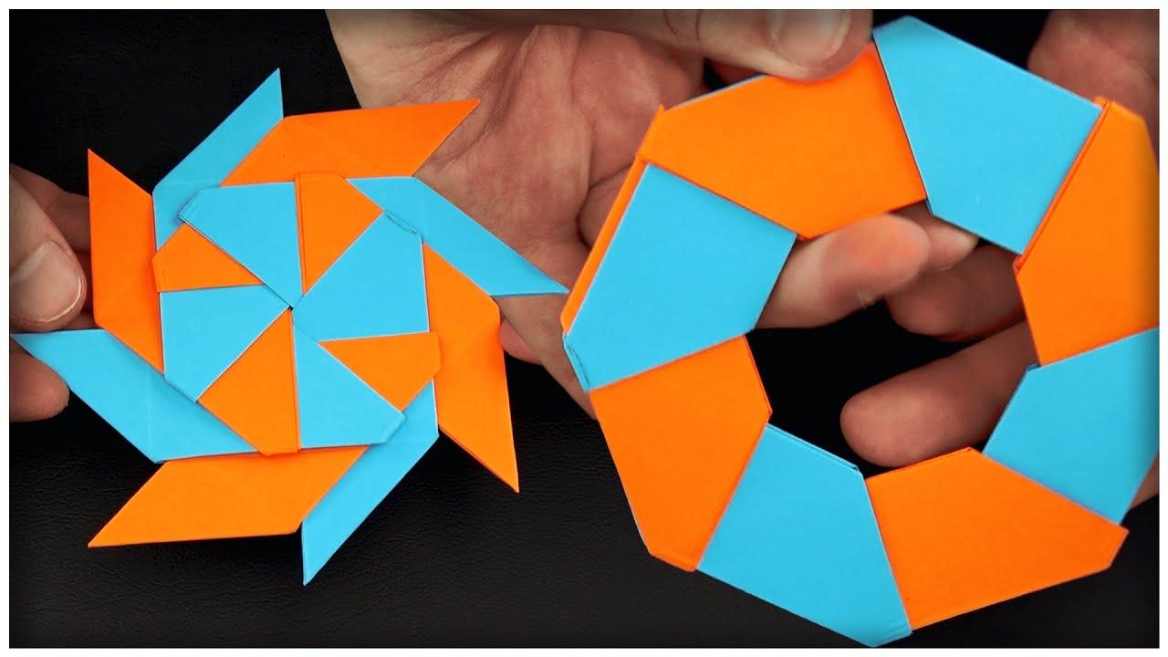 ✅ How To Make a Paper Shuriken ⭐ Origami Transforming Ninja Star