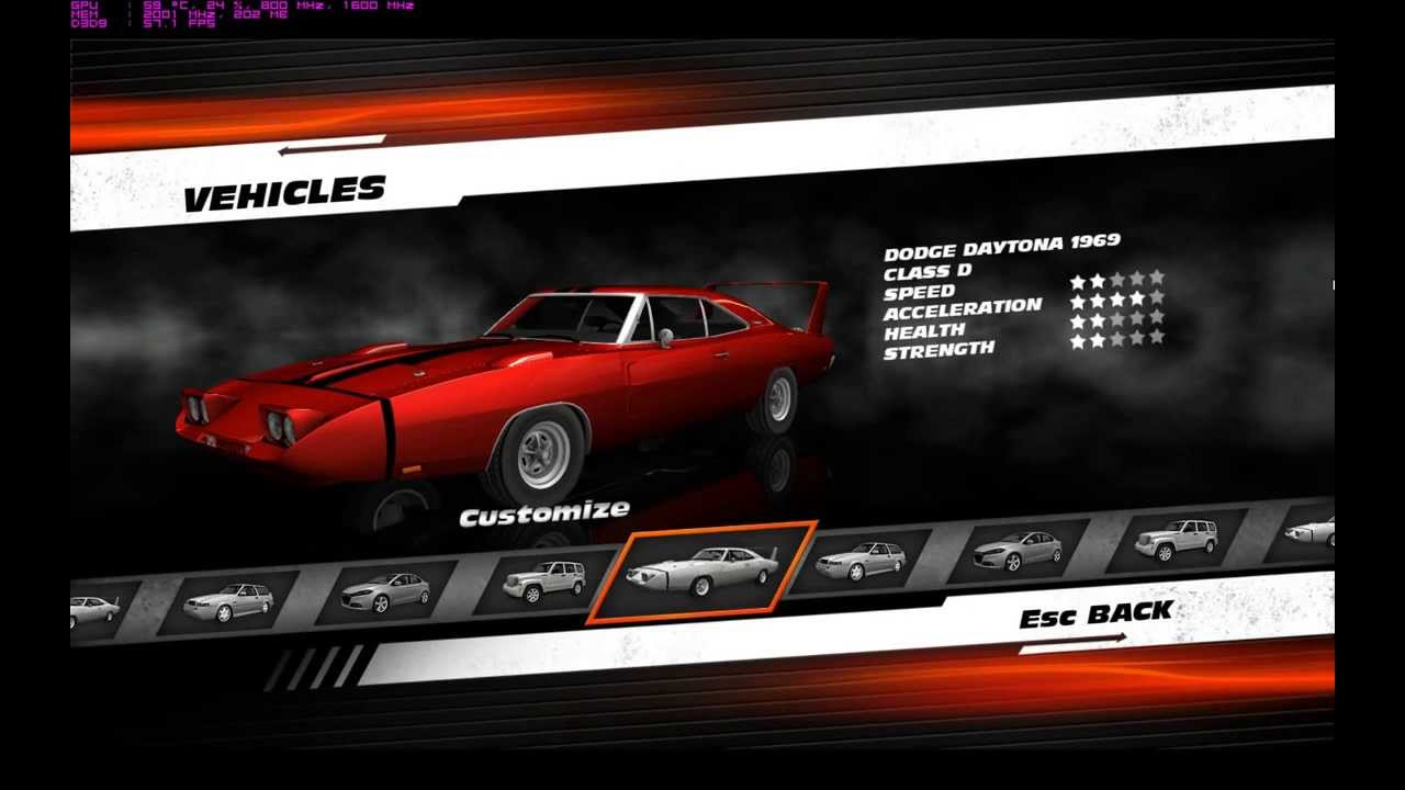 Fast Car Youtube: Fast And Furious Showdown PC All Cars