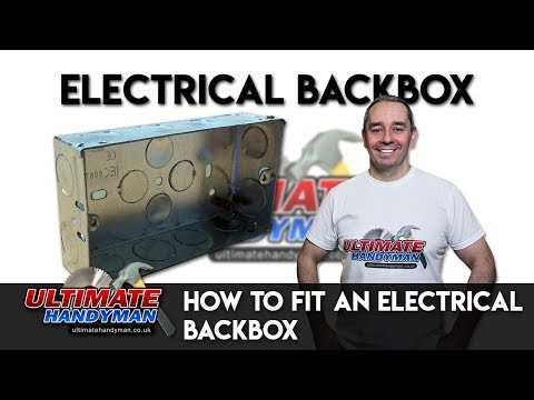 How to fit an electrical back box