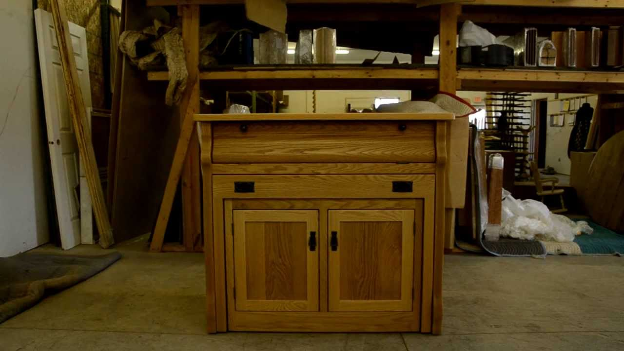 frontier island buffet with pull out table - youtube