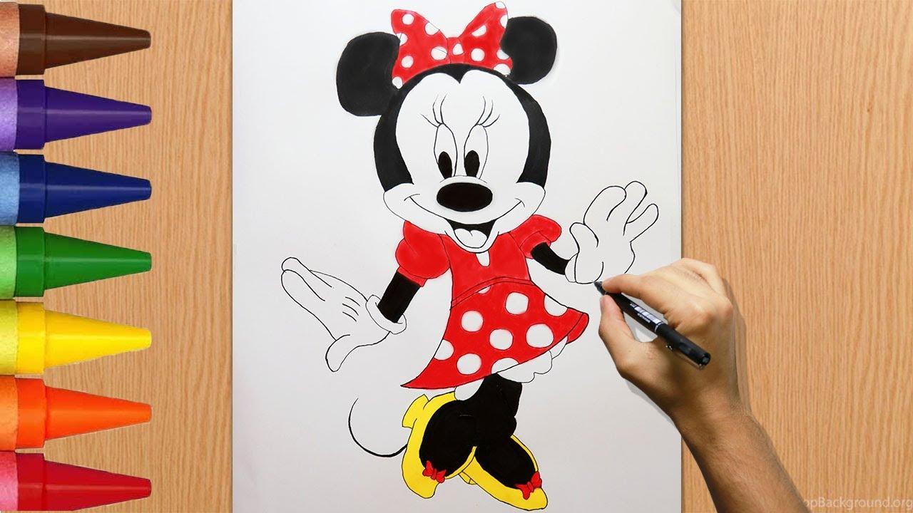رسم سهل تعليم رسم ميكي ماوس كامل رسم وتلوين ميني ماوس Mickey