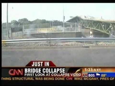 35W Bridge Collapse LIVE VIDEO ACTUAL Minneapolis Minnesota