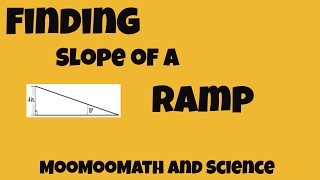 Finding the slope of a ramp  Math Lessons