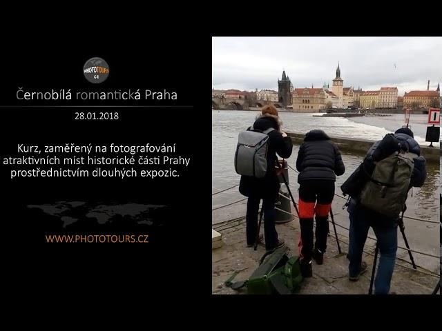 ?ernobílá romantická Praha - fotografování prost?ednictvým dlouhých expozic