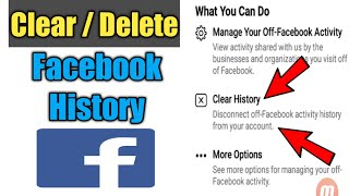 How To Clear Facebook Activity History | Facebook History Delete
