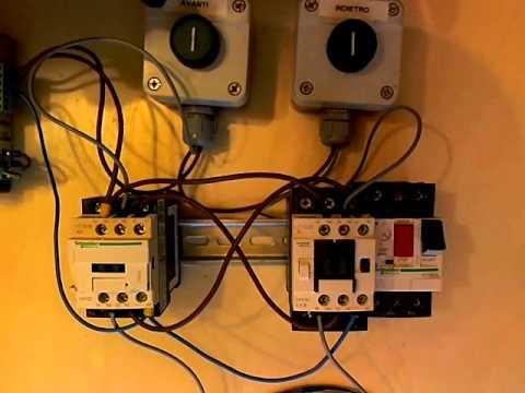 Schema start stop con ritenuta il contattore tecnich for Teleruttore schema