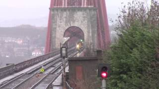Dalmeny Station & The Forth Railway Bridge Scotland
