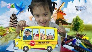Bé Tập Tô Màu Ô Tô  - Xe Bus - Tranh Tô Màu Cho Bé