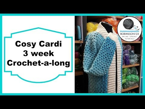 Crochet Cosy Cardi Tutorial Pt 7 of 8 Long Sleeves
