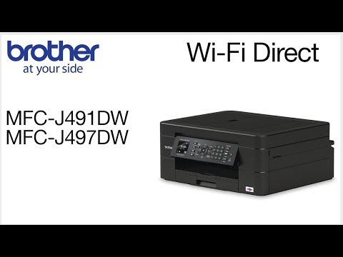 Connect To MFCJ497W With Wi-Fi Direct