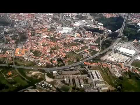 Porto Portugal - Landing at Porto Airport with Ryanair, flying from Faro Portugal