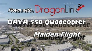 DAYA 550 Quad DragonLink V2 LRS Maiden Flight - Very Windy But I Had To Go UP - Santa Clarita