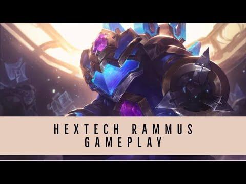 Hextech Rammus jungle gameplay ~ League of Legends