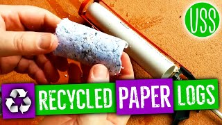 How To Make Recycled Paper Fire Logs