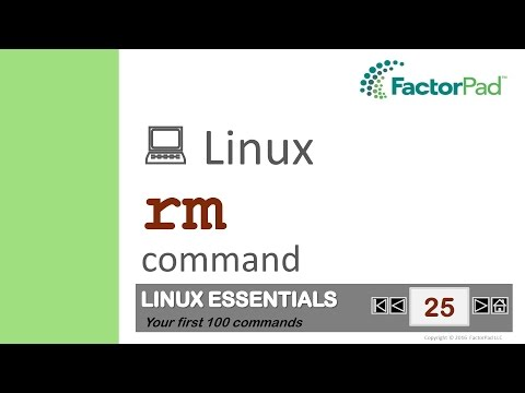 Linux rm command summary with examples