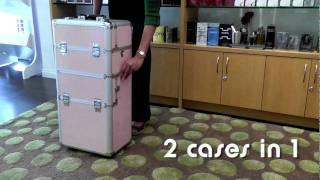 Beauty Encounter presents: SEYA - Pink Gator Rolling Makeup Case