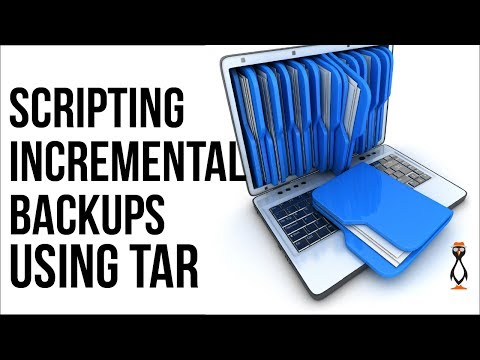 Scripting Tar Incremental Backups