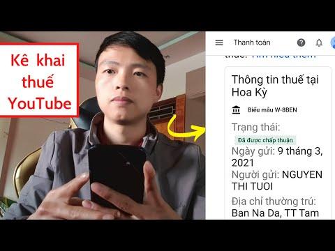 Cách khai thuế thu nhập Youtube cho Google Adsense chính xác nhất