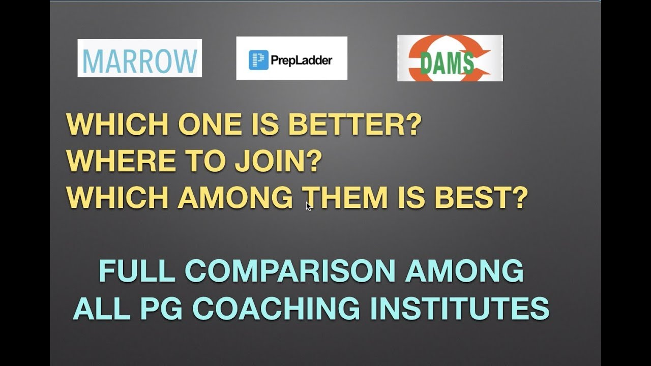 MARROW | DAMS | PREPLADDER - Which Coaching is Good? Full Review &  CONCLUSION