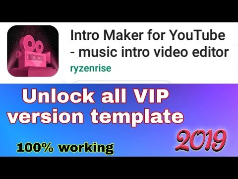 Unlock all VIP version template in (intro maker app) free