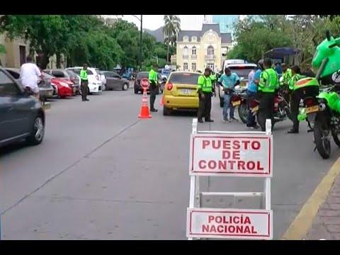 Policía retoma el control del tránsito en Santa Marta