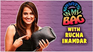 What's In My Bag ft.Rucha Inamdar | Wedding Cha Shinema