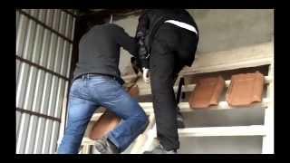 Montaż drabiny dachowej
