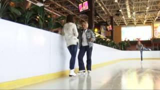 Как научиться кататься на коньках. Передача